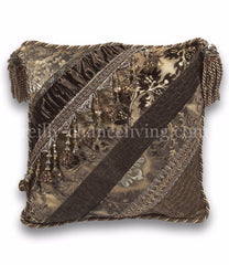 Luxury_decorative_pillow-square-brown-gold-brocade-chenille-beads-reilly_chance_collection