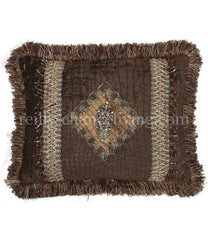 Luxury_decorative_pillow-chocolate_brown_chenille-rectangle-embellished-lion-beads-reilly_chance_collection