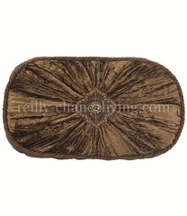 Luxury_decorative_pillow-chocolate_brown_velvet-faux_mink-embellished-oval-reilly_chance_collection