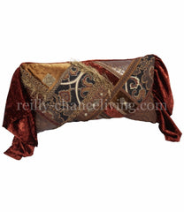 Luxury_decorative_pillow-oversized_rectangle-pieced-rust_velvet-charcoal_tapestry-embellished-old_world-reilly_chance_collection