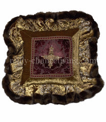 Luxury_decorative_pillow-old_world-ruffled-purple-green-velvet-cross-bling-reilly_chance_collection