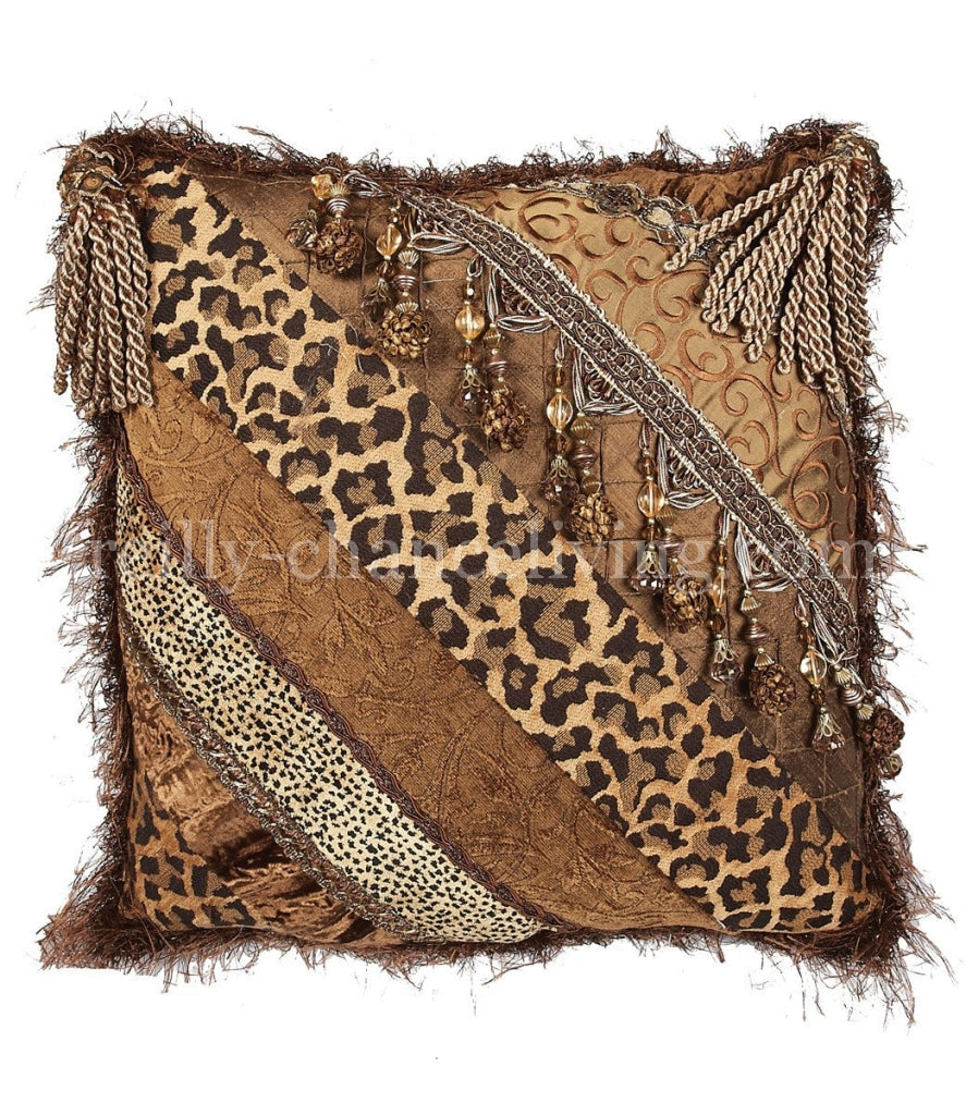 Luxury_accent_pillow-bronze-leopard-beads-pieced-tassels-reilly_chance_collection