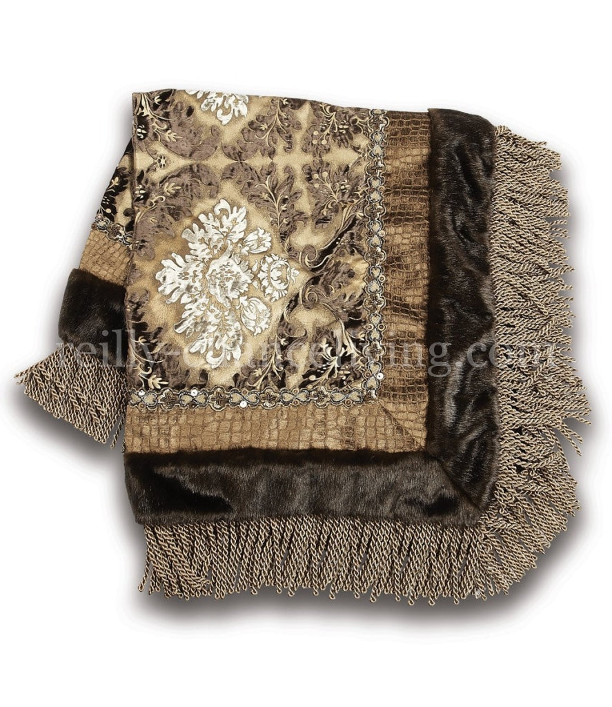 Luxury_square_table_topper-gold-brown-silver-brocade-velvet-bullion_fringe-reilly_chance_collection