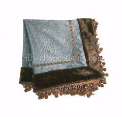 Luxury_square_table_topper-turquoise_croc_chenille-faux_mink-jeweled_beads-reilly_chance_collection