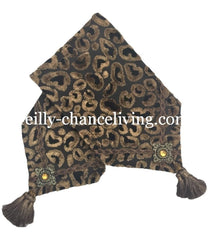 Toilet Tank Runner Leopard Bronze Bathroom Vanity Accessories