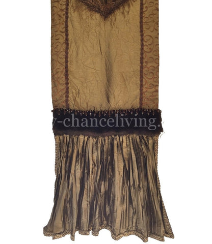 Bronze Silk Table Runner