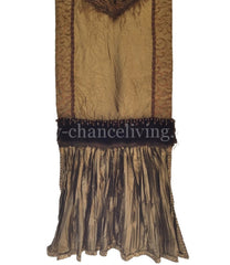 Table_runner-bronze_silk-faux_mink-reilly_chance_collection