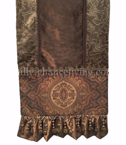 Bronze Velvet And Damask Table Runner