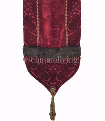 Luxury_table_runner-red_velvet-faux_mink-beads-beaded_tassel-reilly_chance_collection_grande