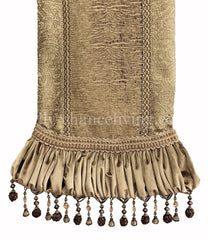 Luxury_table_runner-soft_gold_damask-tiger_chenille-gathered_velvet-beads-reilly_chance_collection_grande