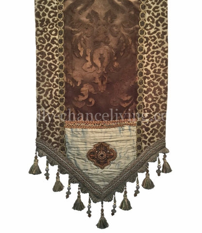 Chocolate And Spa Green Table Runner