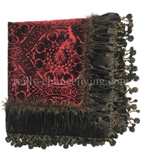 Luxury Square Table Topper Dark Chocolate And Red Velvet