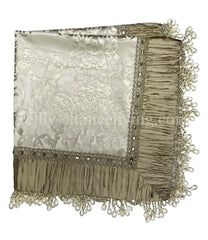 Luxury Table Throw Platinum