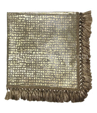 Metallic Leopard Print Opulent Table Throw