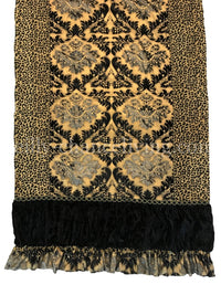 Bristol Black and Gold Luxury Throw
