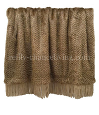 Luxury Grey Champagne Faux Fur Luxury Throw