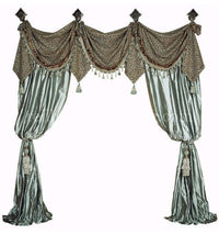 Luxury Curtain Style #8  (Available in any of our fabrics)