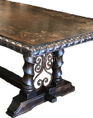 Madrid_dining_table-_Peruvian_Dining_t-Peruvian_Home_furnishings_Handpainted_Wood_Dining_table-bonita_furniture-Alhambra_Venice_Hacienda_style_furniture-italian_renaissance_furniture-Old_world_furniture-reilly_chance