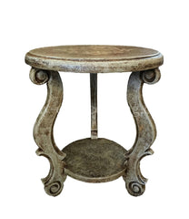 Peruvian Home Furnishings Madrid Hand Painted Wood Side Table Cielo Finish FREE SHIPPING