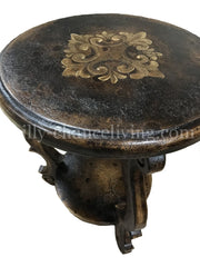 Peruvian Home Furnishings Madrid Hand Painted Wood Side Table FREE SHIPPING