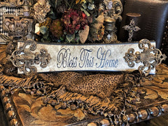 Michelle_Butler_Bless This_home_plaque-Michelle_Butler_plaques-decorative_picture_frames-country_french_decor_picture_frames-reilly_chance