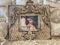 Michelle Butler Large Heirloom Frame with Harlequin Pattern