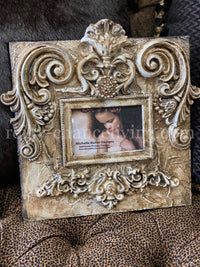 Michelle Butler Heirloom Tabletop Frame with Scroll Details