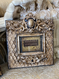 Michelle Butler Tabletop Frame with Harlequin Design