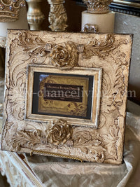 Michelle Butler Heirloom Tabletop Frame with Handmade Roses
