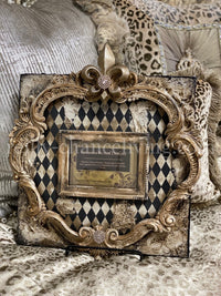 Michelle Butler Tabletop Frame with Harlequin and Fleur de Lis