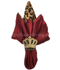 Decorative Napkin Ring Jeweled Crown