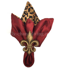 Decorative Napkin Ring Jeweled Fleur de Lis