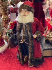 Red Santa Doll with Toy Bag