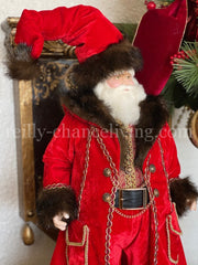 "Old World Santa Doll 27"" Red"