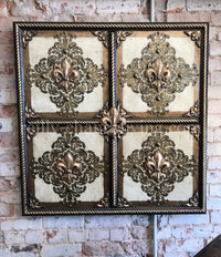 Steve Taff Old World Dimensional Art Fleur de Lis Wall Decor