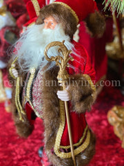 Santa with Toy Bag and Staff