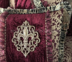 Old_world_bedding-burgundy-gold-velvet-swarovski_crystals-jaquard_fabrics-over_sized_bedding-decorative_pillows-reilly_chance_collection_grande