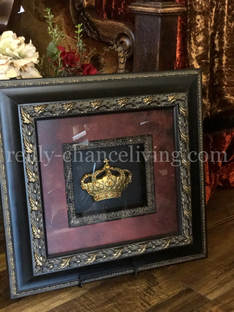Jeweled Crown Framed Art Royal Reilly-Chance Home Decor Retail Store Offerings