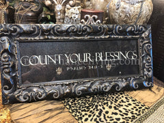 Count Your Blessings Framed Art Reilly-Chance Home Decor Retail Store Offerings