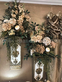 Decorative Wall Sconce and Designer Floral Arrangements