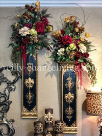 Decorative Wall Sconce and Designer Floral Arrangement