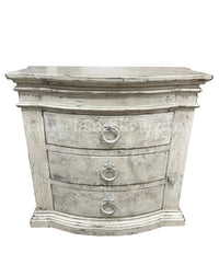 Peruvian Hand Crafted Milan Nightstand Antique White Finish FREE SHIPPING