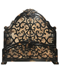 Rachel Peruvian Hand Crafted Wood King Size Bed Black/Gold Finish FREE SHIPPING