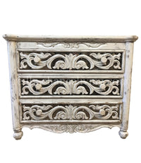 Rachel Peruvian Hand Crafted Dresser Vintage White Finish  FREE SHIPPING