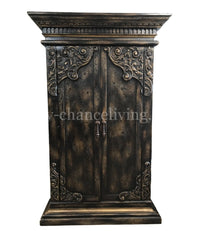 Bristol Peruvian Hand Crafted Wood Armoire FREE SHIPPING