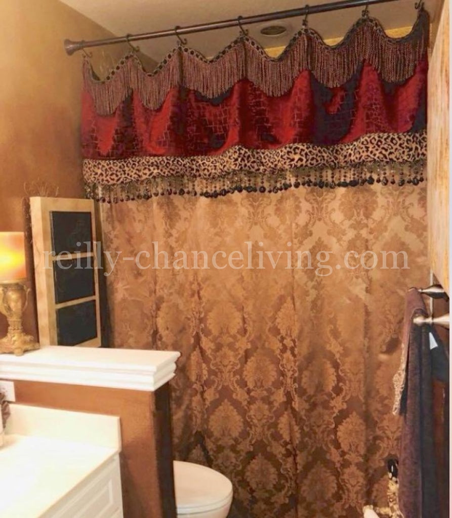 Custom Decorative Shower Curtains Reilly Chance Collection