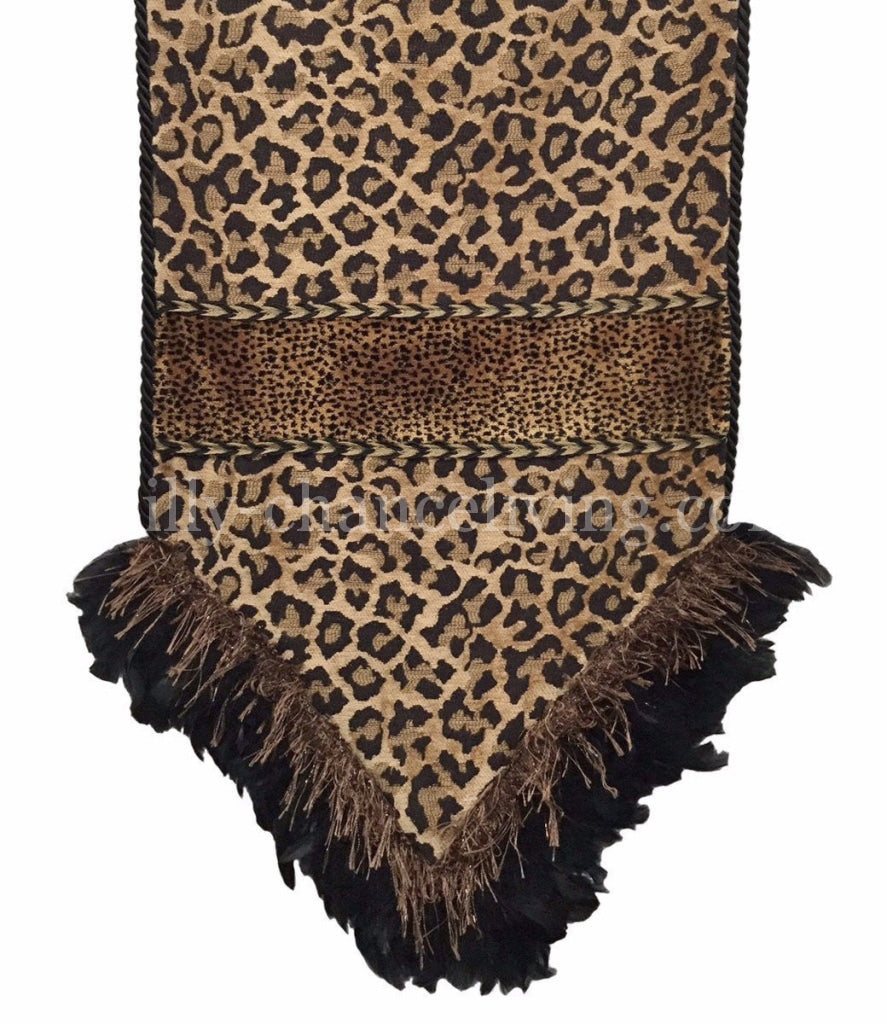 Leopard Chenille Table Runner Reilly Chance Collection