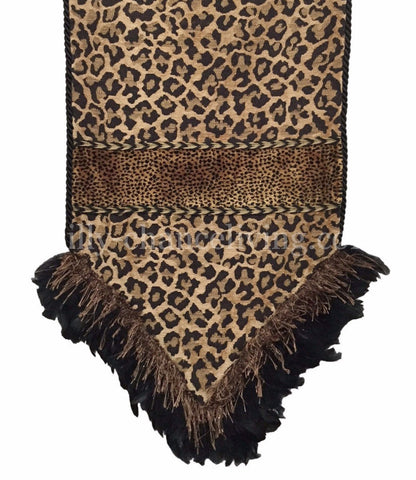 Leopard Chenille Table Runner