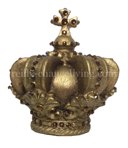 Jeweled Crown Candle Topper/Table Top Decor (small)