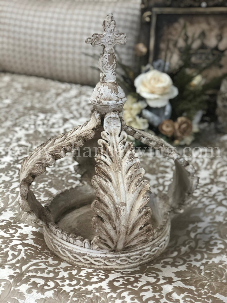 Table_top_decor-large_crowns_sculpture-Table_crown-old_world_decor-tuscan_decor-french_country_decor-reilly_chance